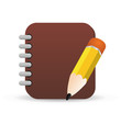 note icon, vector note sign icon