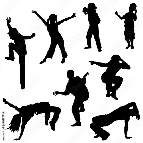 dancing people, kids, breakdance