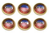 Presidential Election 2012 Buttons with clipping paths