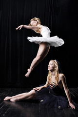 Two Ballerinas in theatre