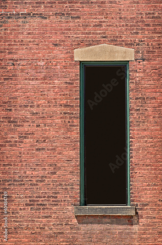 Window with Clipping Path in Brick Building