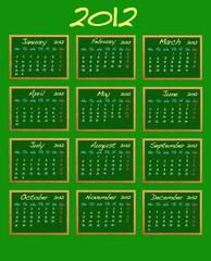 Calendar 2012.