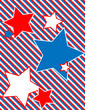 EPS8 Vector Patriotic Star Background with Stripes