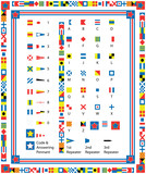 EPS8 Vector Nautical Flags and Borders