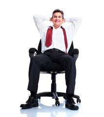 Relaxing businessman.