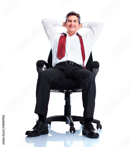 Relaxing businessman.