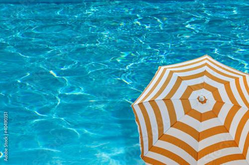 parasol, piscine