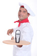 portrait of a pizza chef