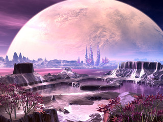 Alien Planet Life on Distant Planet
