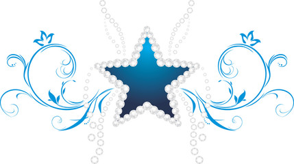 Shining star. Decorative symbol