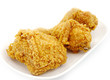Golden brown fried chicken