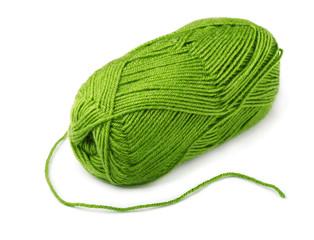 Skein of green yarn