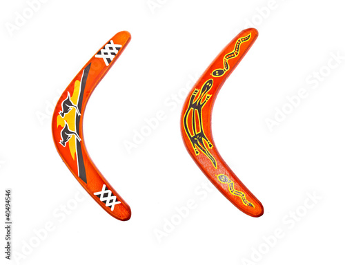 boomerangs on white background