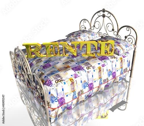 3D Geldbett Weiss - RENTE