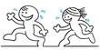figur paar joggt