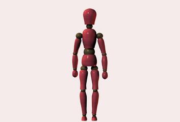 Wooden Mannequin Standing