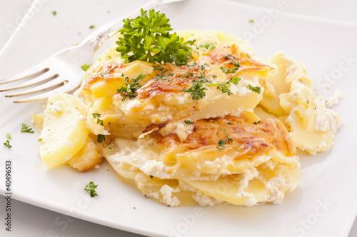 Leinwanddruck Bild Kartoffelgratin