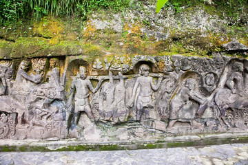 Yeh Pulu - Famous carved cliff face, Ubud
