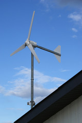 Small wind turbine - producing enough for the household