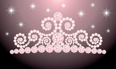Beautiful wedding diadem