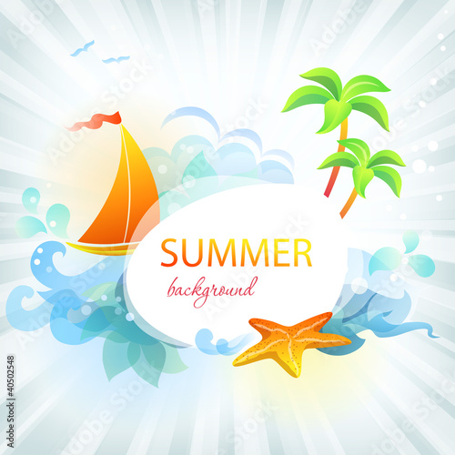 eps 10 summer background