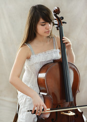 Girl with cello