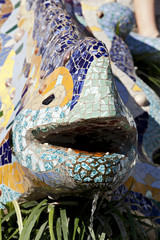 Lizard sculpture at Parc Guell