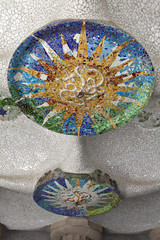 Ceiling detail in Parc Guell,