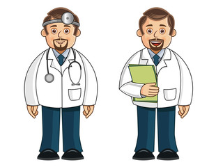 A set of 2 Doctors - Vector