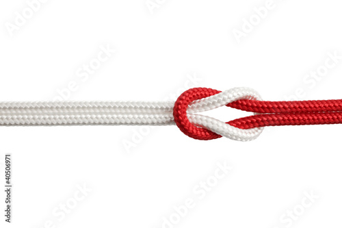 Nodo bianco e rosso - 40506971