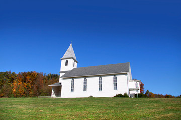 Small church in rural West Virginia