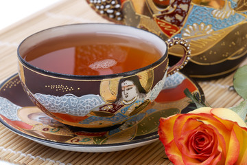 Teaset, Tea Cup with Rose