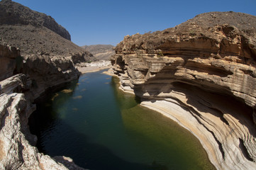 Basin in canyon. Socotra island, Yemen
