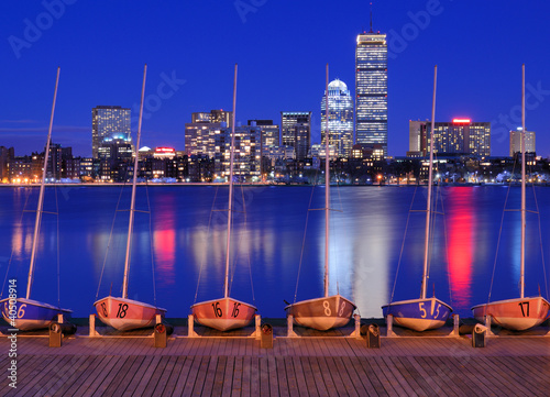 Back Bay Boston Skyline from Cambridge