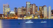 Boston Financial District Cityscape from across Boston Harbor