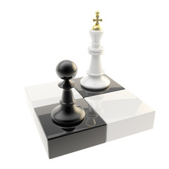 Chess icon illustration of pawn and king