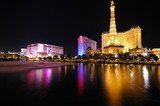 Las Vegas hotels reflecting in water. - Fine Art prints
