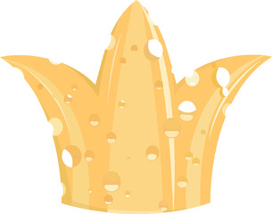 Illustration of the crown of cheese