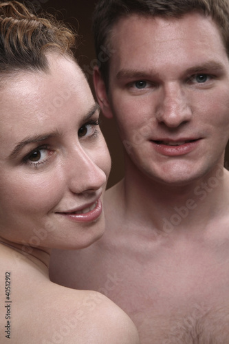 Man and woman looking at the camera