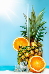 Pineapple with oranges and tubules