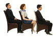 Line of business people on chairs
