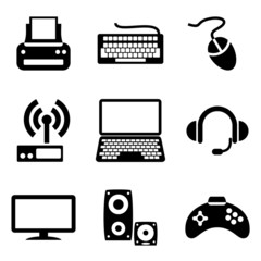 computer icons of computer devices