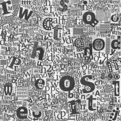Abstract newspaper's art letters