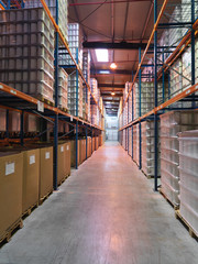 storage zone in an industrial warehouse