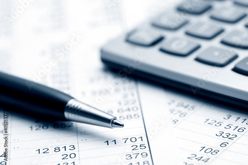 Leinwanddruck Bild Accounting