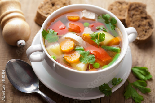 chicken soup with vegetables - 40515598