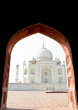 Taj Mahal, India, Agra. Image with copy-space