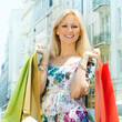 attractive shopping woman