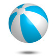 Vector illustration of blue & white beach ball