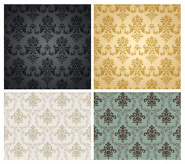 Seamless damask wallpaper pattern.